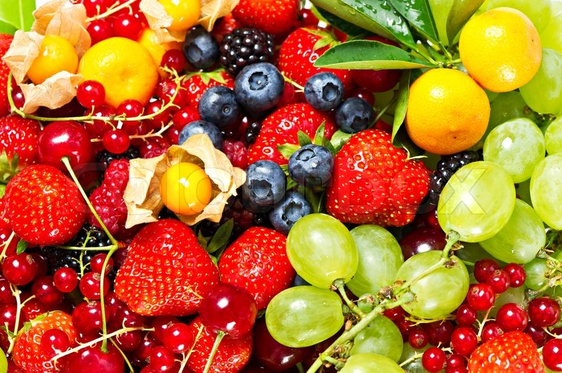 Stock image of 'Mix of fruits and berries'