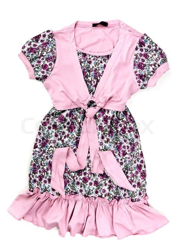 0efd2ebff5cf Cotton baby pink dress with a pattern ...