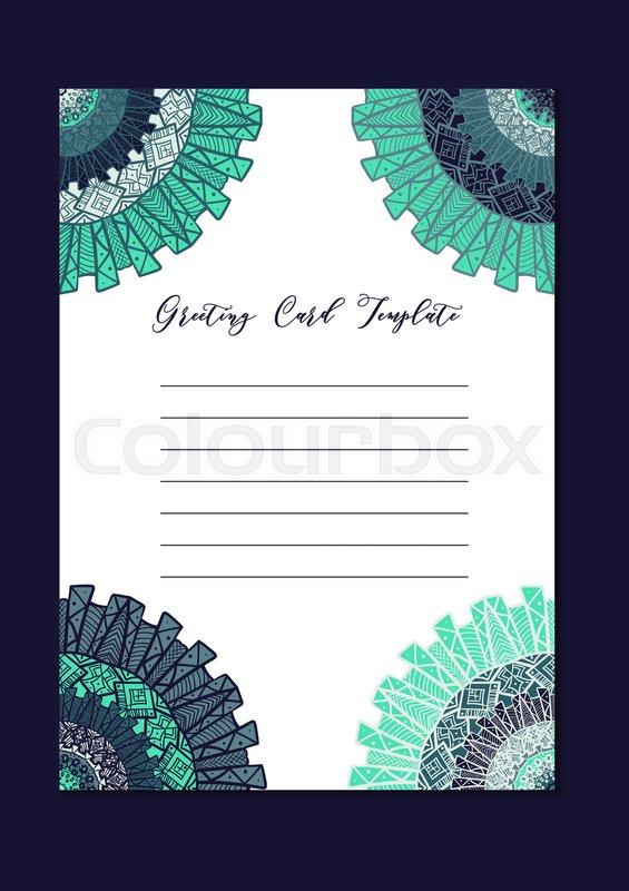 Business Mandala Card Template Stock Vector Colourbox