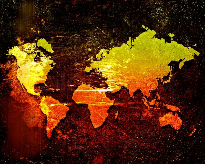 World map on a grunge background stock photo colourbox stock image of world map on a grunge background gumiabroncs Gallery