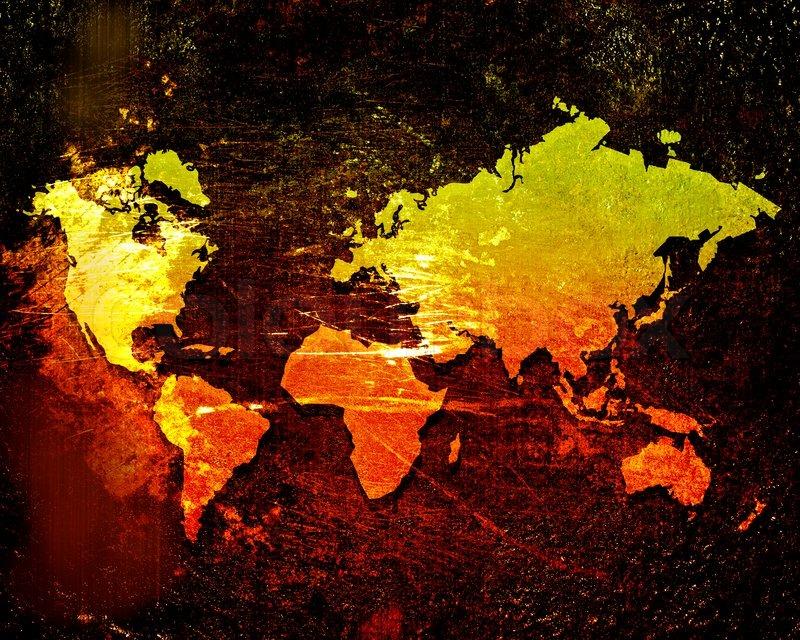 World map on a grunge background stock photo colourbox gumiabroncs Choice Image