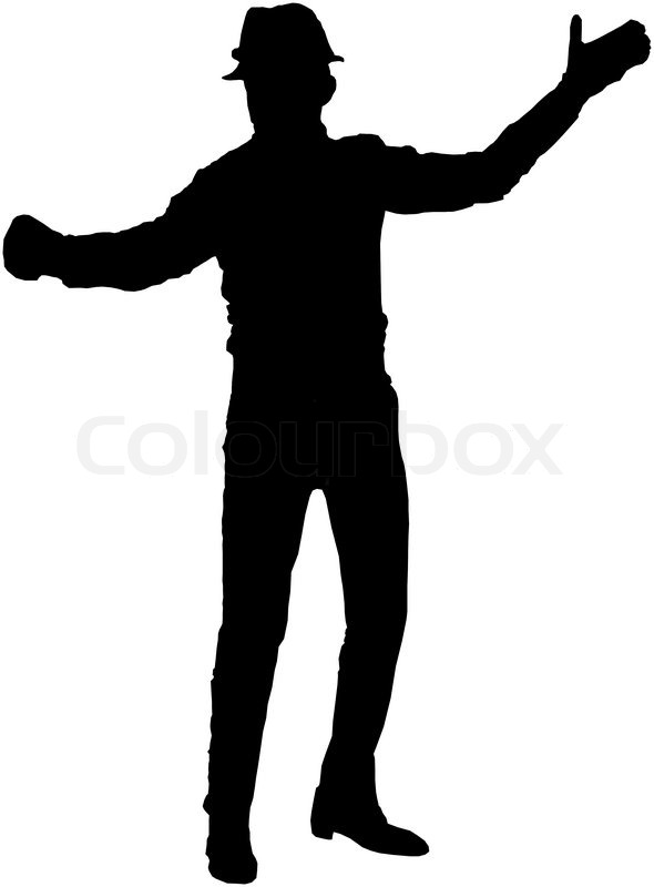 Irish Dancer Silhouette Clip Art Stock image of 'irish dancer'