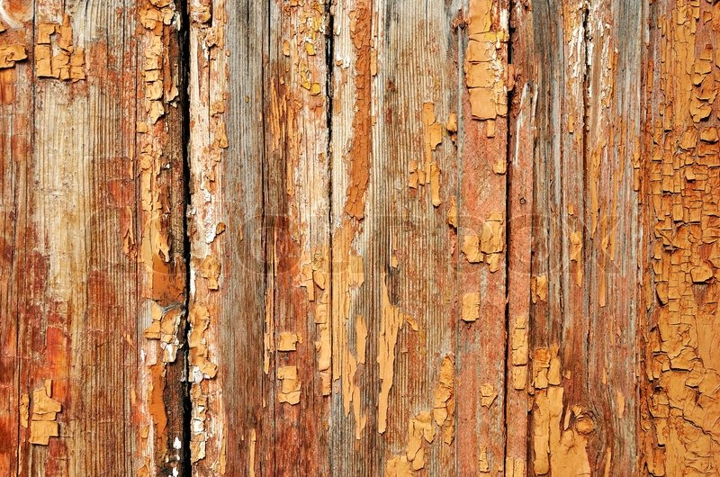 Rough Wood Planks ~ Rough weathered grainy textured painted wooden planks