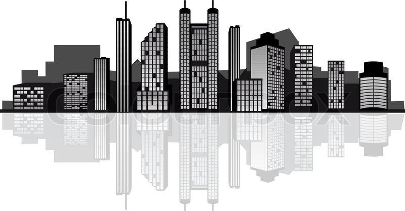 modern cityscape for design as a business concept stock vector rh colourbox com cityscape vector png cityscape vector ai