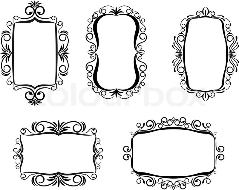 vintage frame in victorian style for ornate and design stock rh colourbox com victorian frame vector free victorian oval frame vector