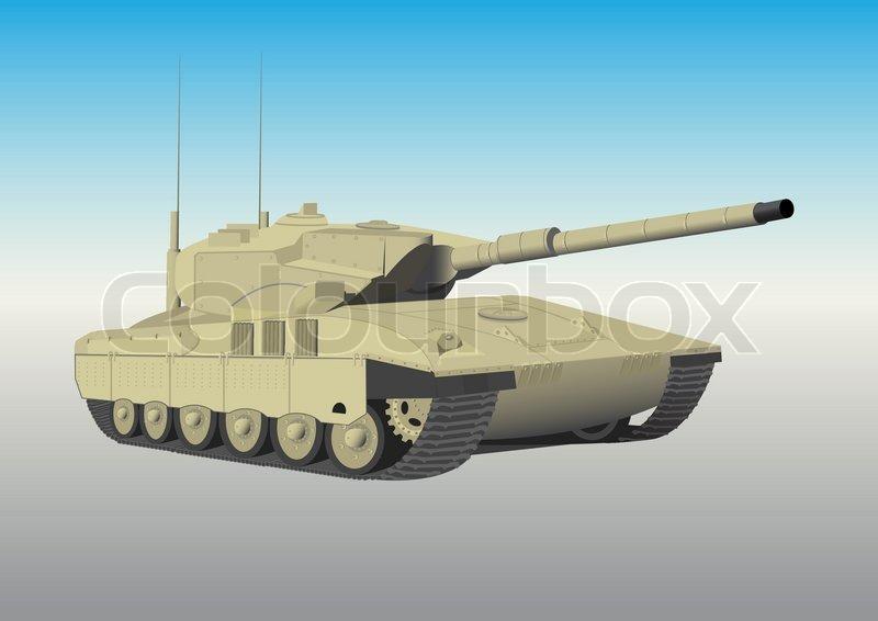 Grune Farbe Herstellen : Das Militär Raupe Tank mit einer Pistole  Vektorgrafik  Colourbox