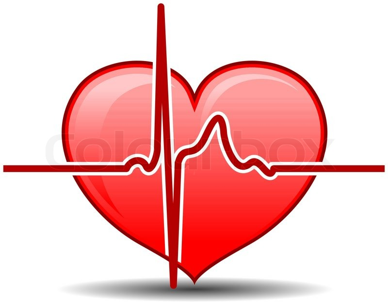 heart with pulse graph as a healthcare concept stock vein clipart vein clips