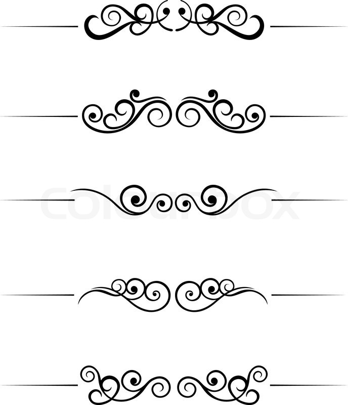 Swirl elements and monograms for design and decorate Stock Vector Interesting Decorate Design