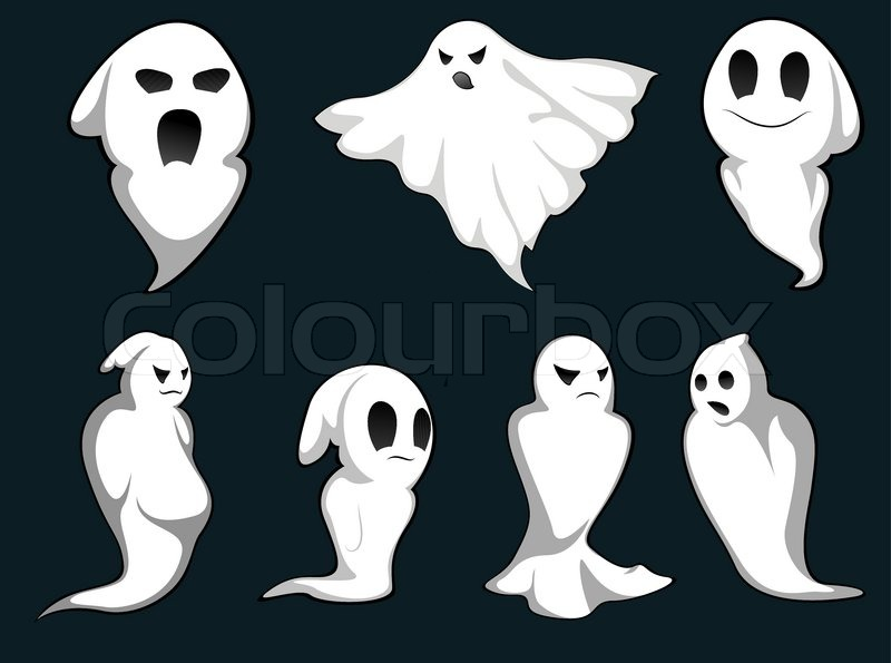 set of ghosts for design isolated on background stock werewolf clip art free images werewolf clip art public domain