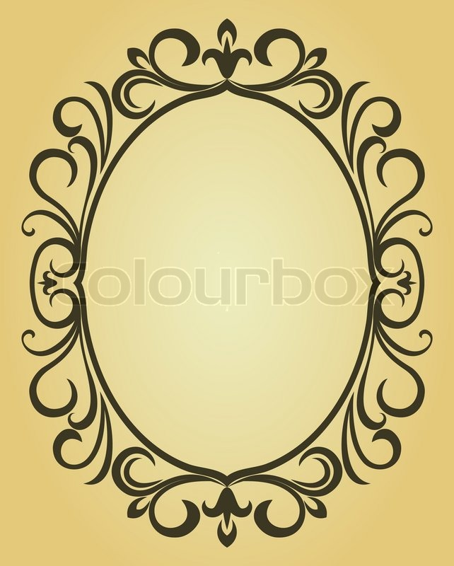 Vintage frame im viktorianischen Stil für Design als Hintergrund ...