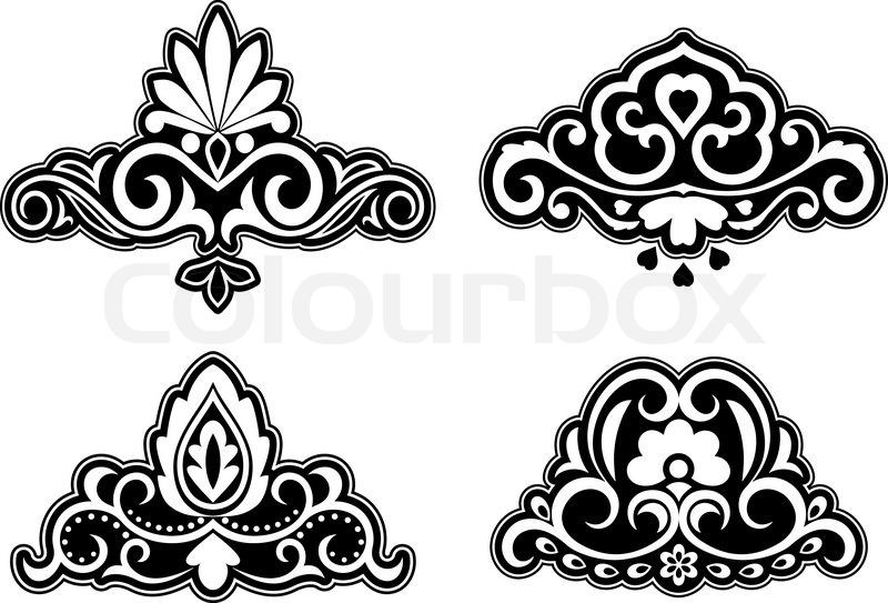 Flower Patterns And Borders For Design Ornate Stock