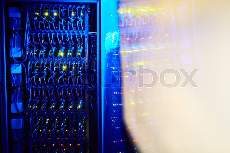 Background with automated machinery control box, stock photo