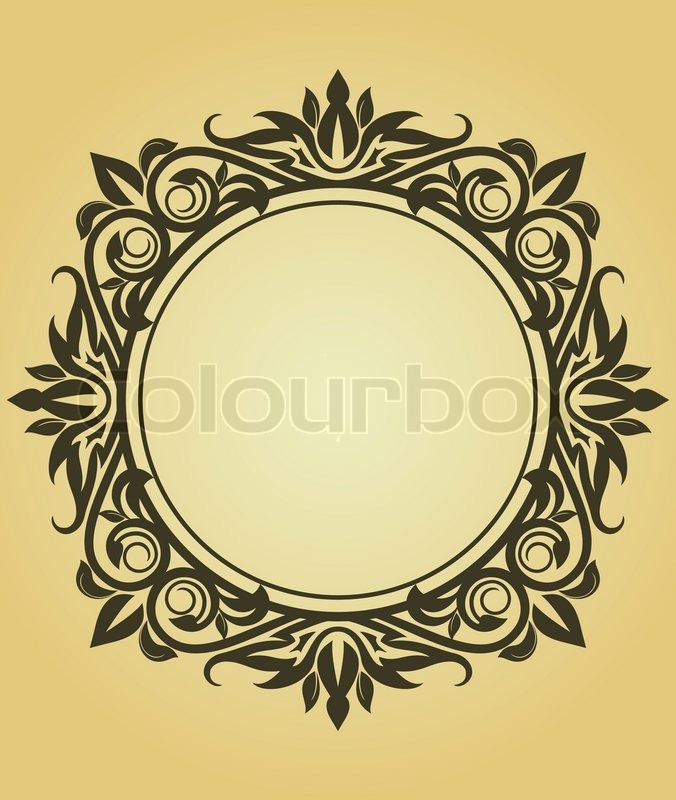 Victorian Design vintage frame in victorian style for design as a background