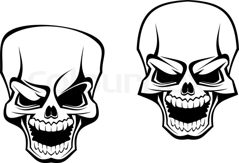 Danger Skull As A Warning Or Evil Concept Stock Vector