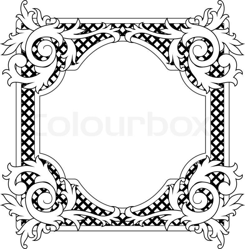 vintage frame in victorian style for design as a background stock rh colourbox com round victorian frame vector victorian border vector free
