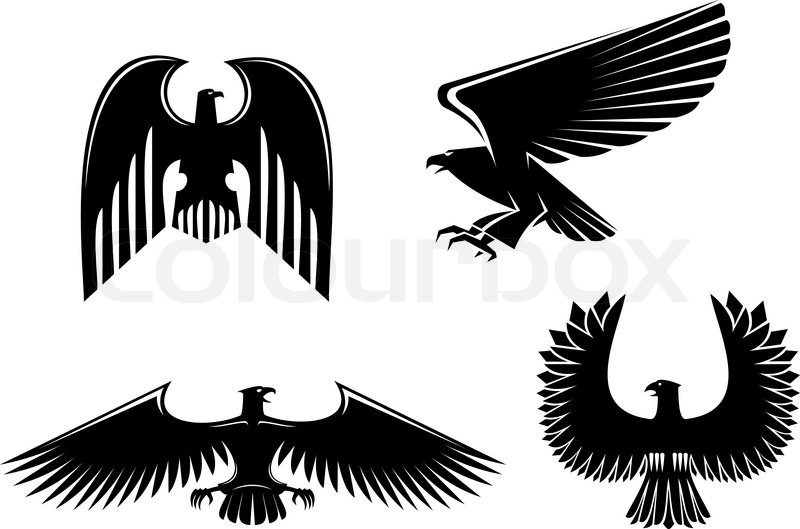 Eagle Symbol Isolated On White For Design Stock Vector Colourbox