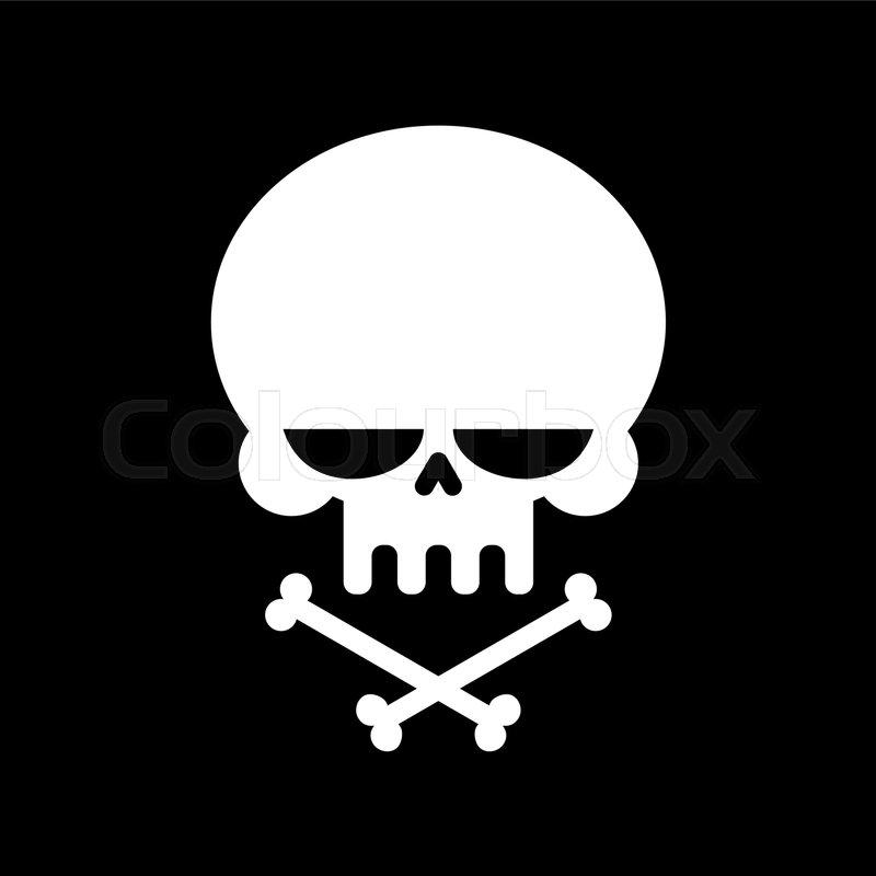 Skull and crossbones isolated. skeleton head. Sign danger of death ...
