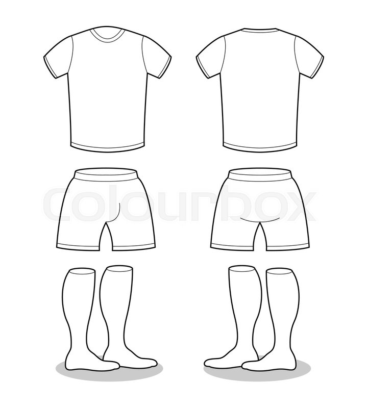 sample for sports clothing soccer t shirt shorts and socks