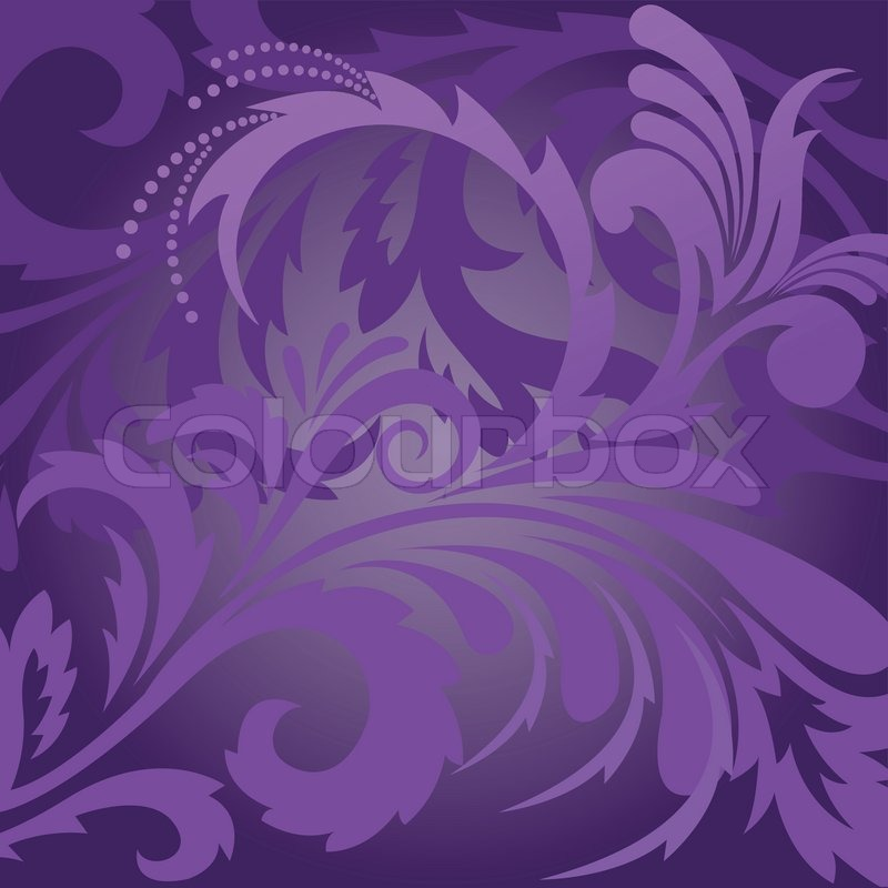 Stock vector of 'abstract violet background with floral ornaments'