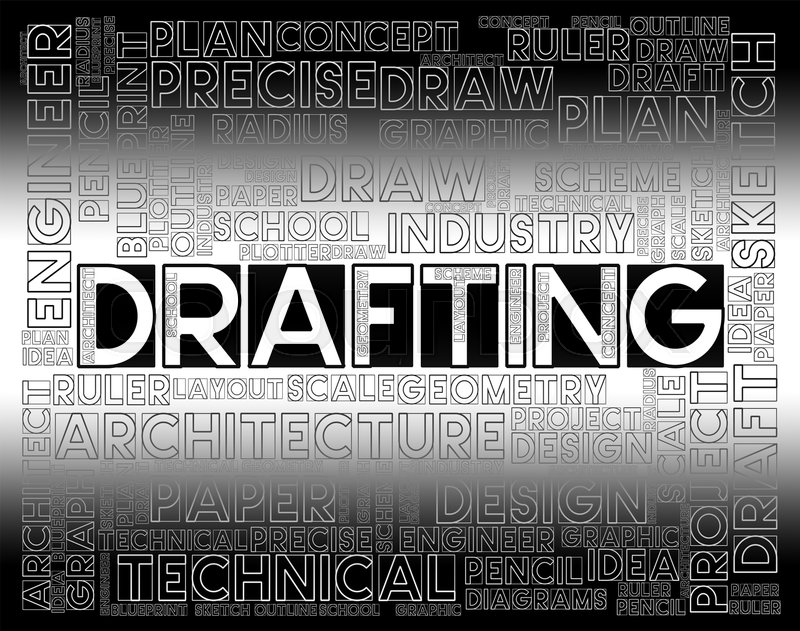 Drafting words meaning outline houses and blueprint stock photo drafting words meaning outline houses and blueprint stock photo colourbox malvernweather Gallery