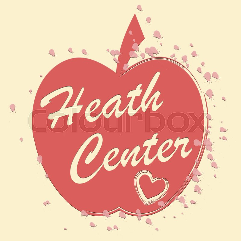 Health Center Meaning Medical Clinic And Wellness, stock photo