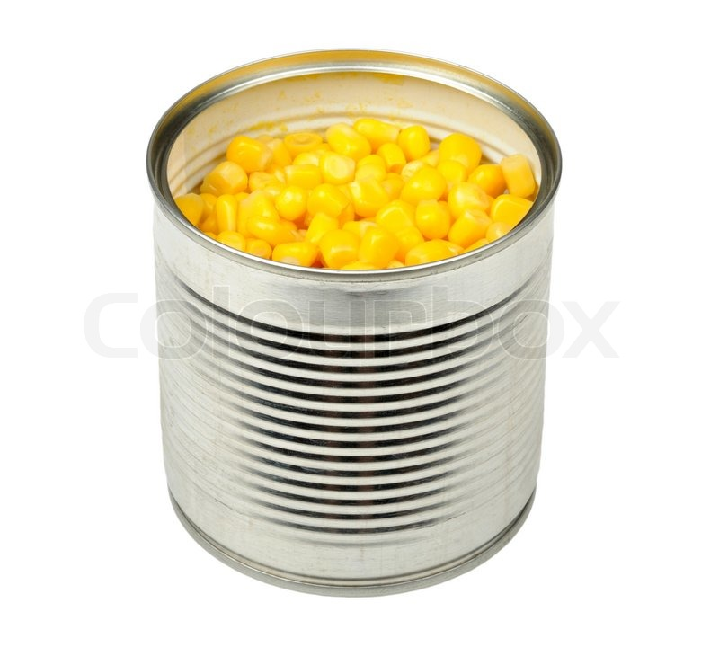 canned corn in a can is isolated on a stock photo colourbox