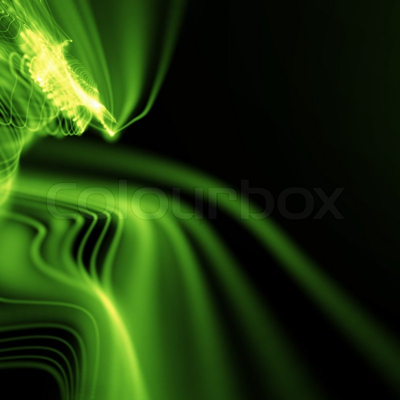 Neon Backgrounds on Stock Image Of  Green Smooth Abstract Wavy Neon Background