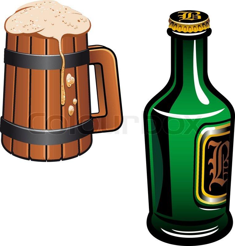 Cold German Beer As A Oktoberfest Or Drink Symbol Stock