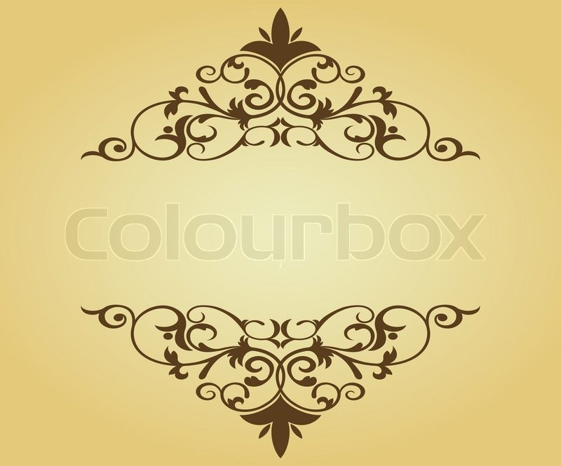 vintage frame in victorian style for design as a