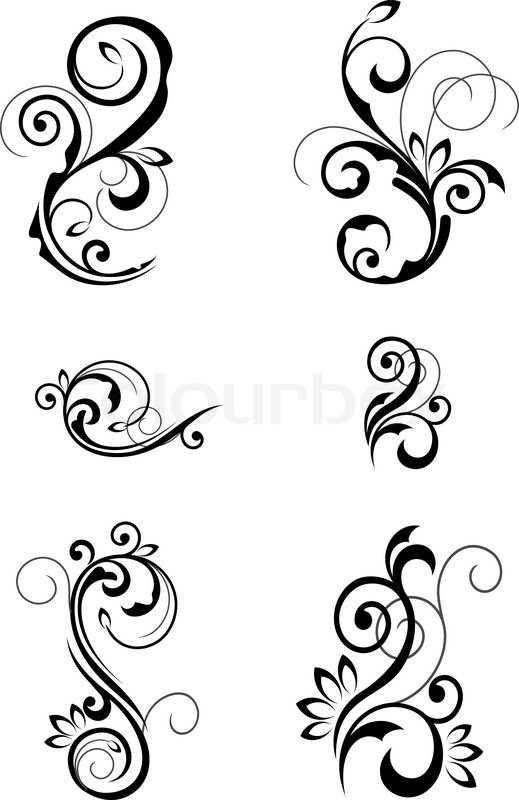 Floral patterns for design isolated on white stock vector colourbox thecheapjerseys Choice Image