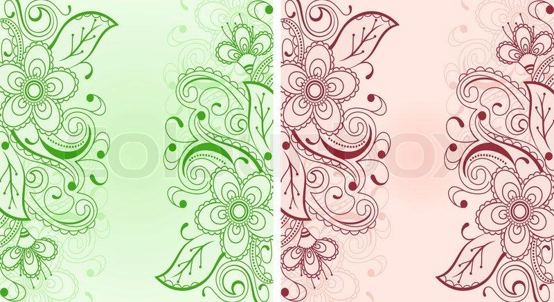 rococo motif vintage floral - photo #11