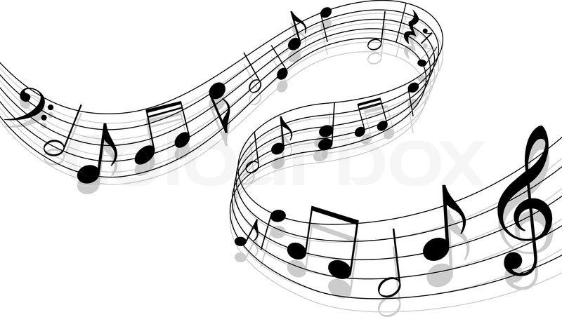 Notes mit Musik Elemente als musikalischer Hintergrund-Design ...