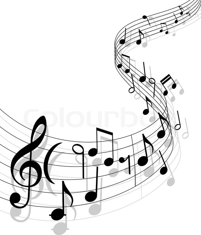 Stock vector of 'Notes with music elements as a musical background design'