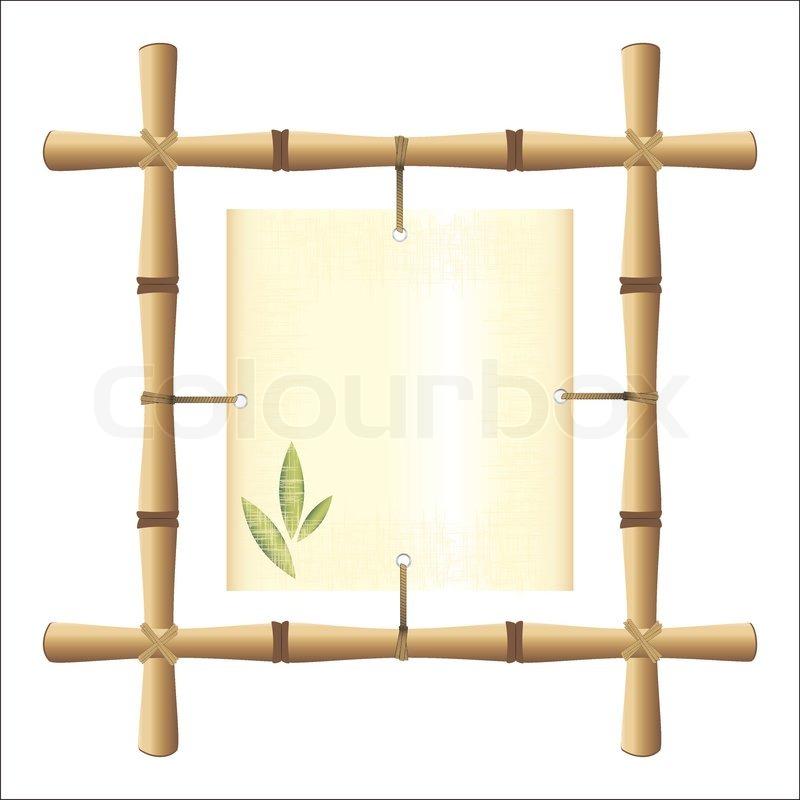 Bambus-Rahmen   Vektorgrafik   Colourbox
