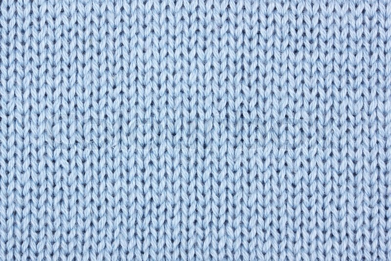 Blue cotton knitting material as background | Stock Photo