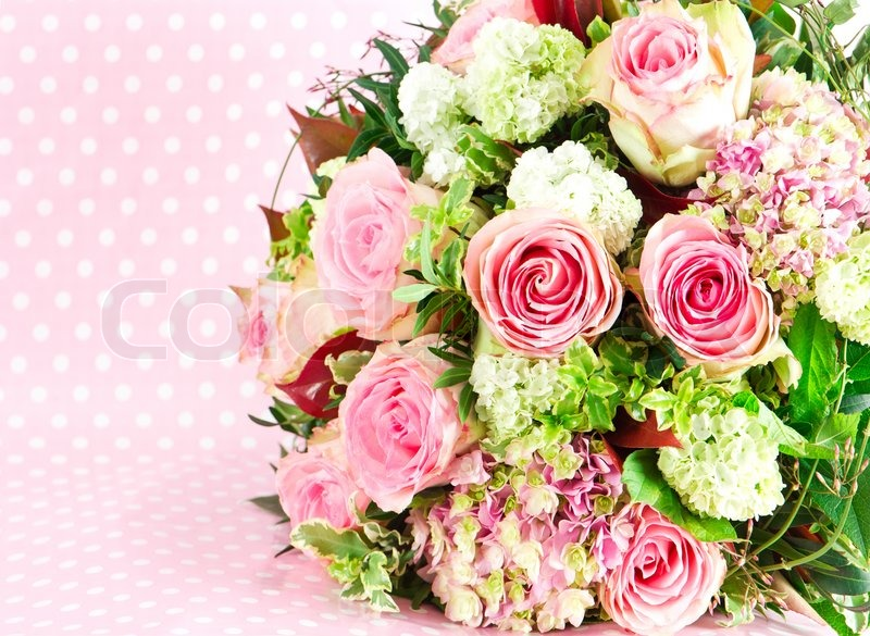 Pink roses. beautiful flowers bouquet   Stock Photo   Colourbox