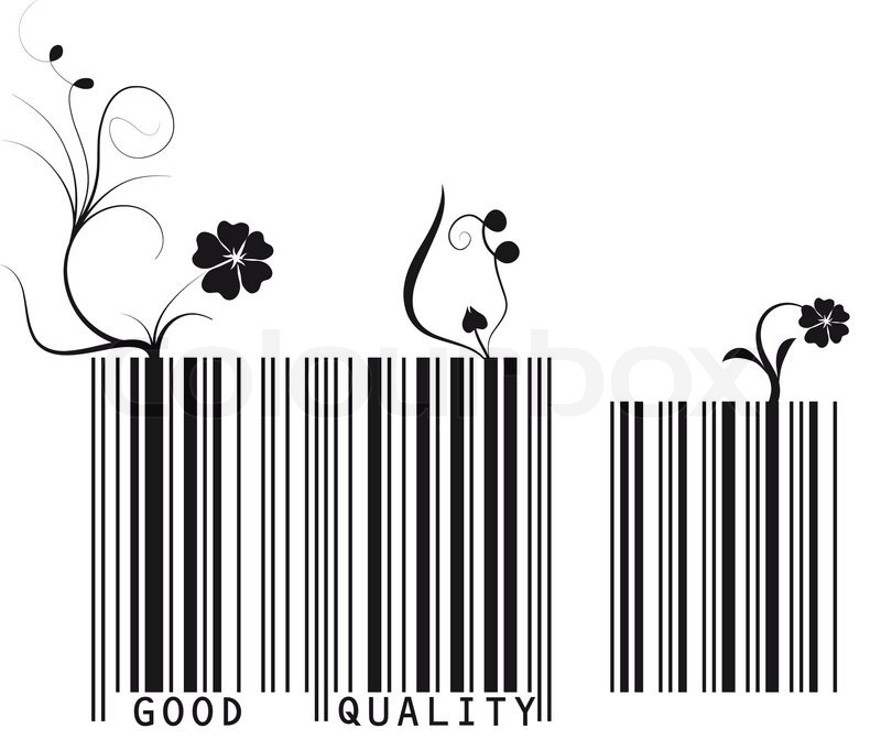 Vector Illustration Of Floral Barcode Good Quality