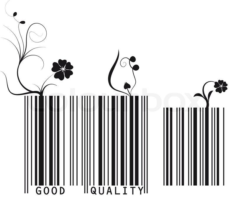 Vector Illustration von floralen Barcode. | Vektorgrafik | Colourbox