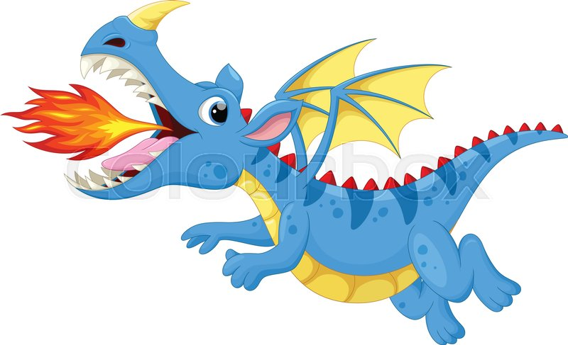 vector illustration of cute dragon stock vector