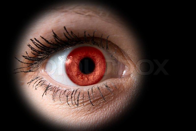 Natural Purple Iris Eye