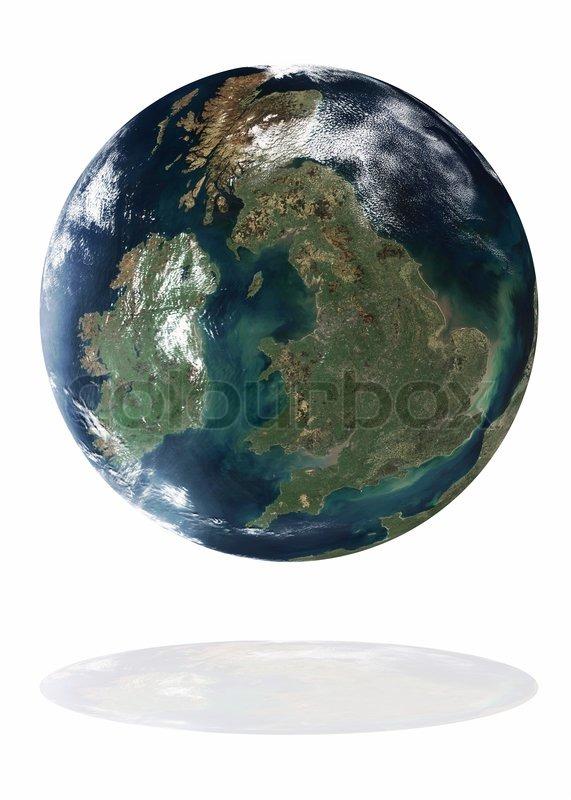 Great britain auf dem planeten erde stockfoto colourbox for Boden great britain