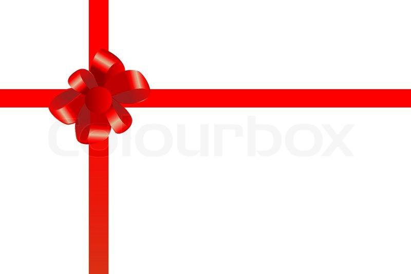 Vektor- rote Schleife auf weißem  Vektorgrafik  Colourbox
