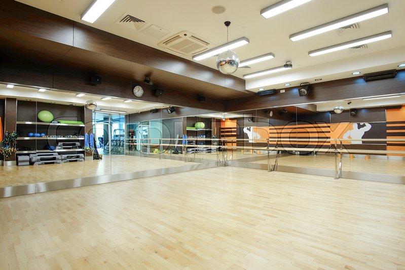 Interior of an empty dance hall, stock photo