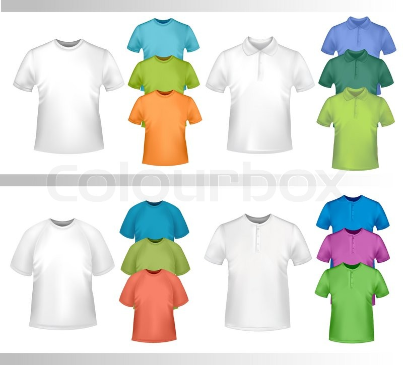 Color t-shirt design template. Vector illustration. | Stock Vector ...