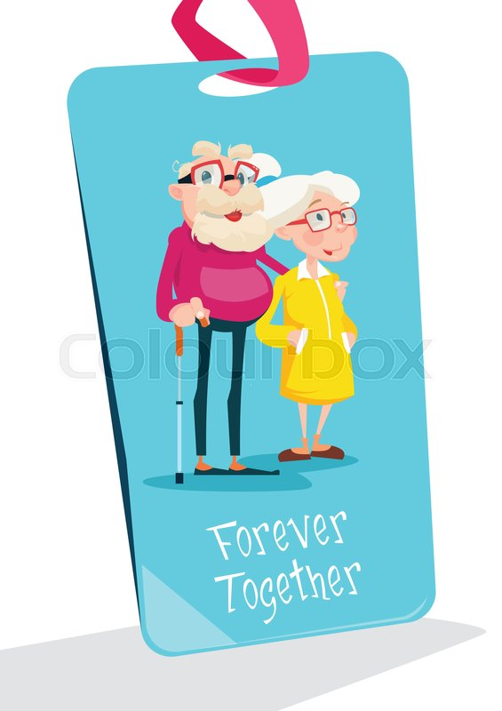 Senior couple grandparents day greeting card flat vector senior couple grandparents day greeting card flat vector illustration stock vector colourbox m4hsunfo