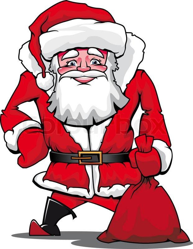 Lustige Weihnachtsmann als Christmas ... | Vektorgrafik | Colourbox