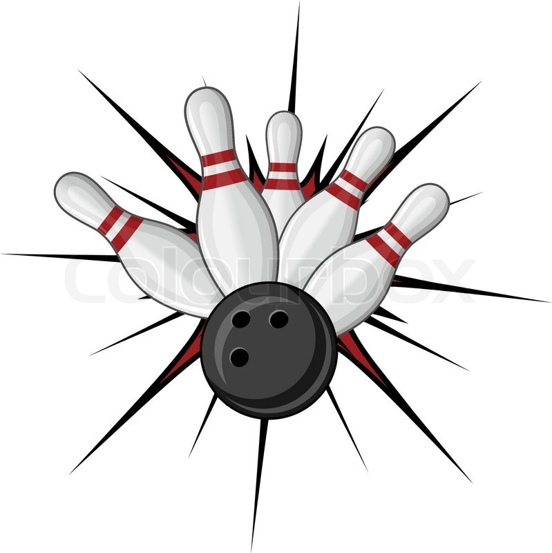 Bowling symbol isolated on white for sports design | Stock Vector | Colourbox