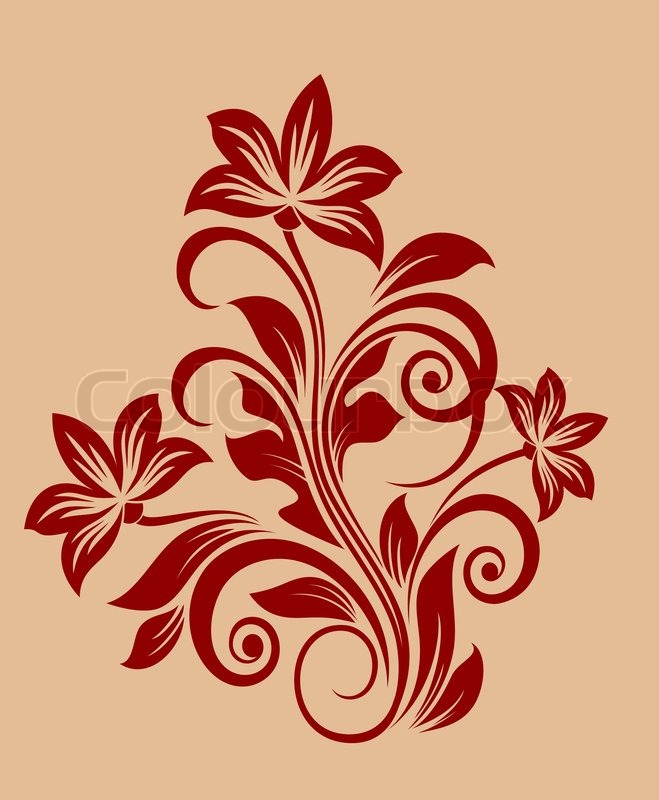 Flower decoration for design and ornate isolated on background stock vector of flower decoration for design and ornate isolated on background altavistaventures Images