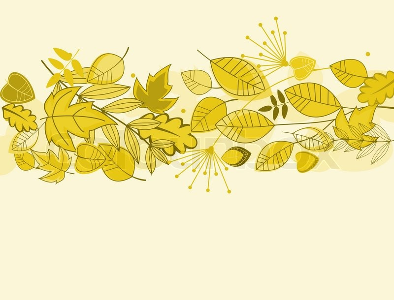 Autumn leaves background for fall or thanksgiving design | Stock Vector |  Colourbox