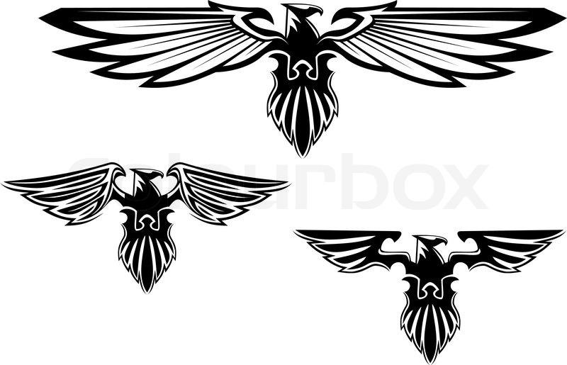 heraldik adler symbole und tattoo stock vektor colourbox. Black Bedroom Furniture Sets. Home Design Ideas
